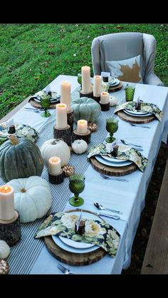 This tablescape could be used for a vintage or rustic wedding