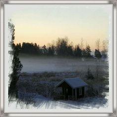 Go'morron💕💚Vilken dimma o -10 grader....Ha en fin lördag💚🍃💕 #kyligt #lördagsmorgon #vinter #österbotten #esse #finland