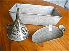 Antique grey graniteware assortment for sale at More Than McCoy at http://www.morethanmccoy.com