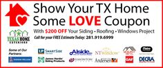 House Siding Options, Roofing Options, Roofing Systems, Radiant Barrier, The Woodlands Tx, Residential Roofing, Window Replacement, Love Coupons, Roofing Contractors