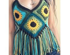 High Neck Crochet Top by SharkbiteStitches on Etsy