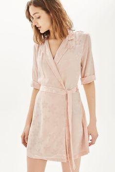 PETITE Jacquard Wrap Dress