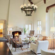 Tudor revival x fresh neutrals #living room