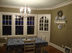love wall color for combined dining room and kitchen areas