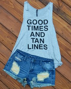 """""""Good Times and Tan Lines"""" top! ONLY $19!! 