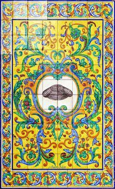 Azulejos. Bar España Cañí (Madrid)  Spain