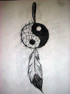 Yin Yang Dream Catcher by ~KohanaGirl222 on deviantART
