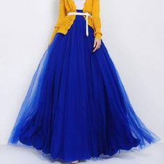 Stylish Women's Solid Color High-Waisted Floor-Length Skirt