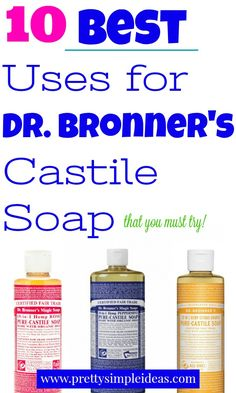 , Top 10 Uses for Dr. Bronner's Castile Soap , Here are the 10 Best uses for Dr. Bronner's Castile Soap including: face wash, laundry detergent, and a household cleaner. Find out my favorite and st. Castile Soap Shampoo, Castile Soap Uses, Castile Soap Recipes, Dr Bonners, Home Design, Bronners Soap, Tea Tree Soap, Homemade Laundry Detergent, Best Natural Laundry Detergent