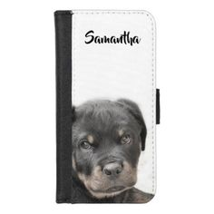 #Rottweiler puppy iPhone 7/8 wallet case - #rottweiler #puppy #rottweilers #dog #dogs #pet #pets #cute