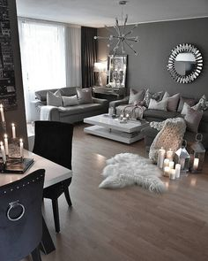 9 Inspiring Cozy Apartment Decor on Budget Best Cozy Apartment Decoration inspiring teen girl bedroom decor ideas 5257 Cozy Diy Apartment Decor Ideas Cozy apartment living room as a decoration idea Cozy Living Rooms, Living Room Grey, Living Room Interior, Home And Living, Small Living, Apartment Living Rooms, Modern Living Room Sets, Gray Living Room Decor Ideas, Living Room Decor Black And White