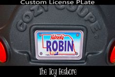 Replacement Decal fits Little Tikes Cozy Coupe #Nebraska Custom Number Plate #TheToyRestore #TheToyRestore #LittleTikes #CozyCoupe #LicensePlate #NumberPlate #Vanity #CozyCoupeRedo #CozyCoupeMod #CozyCoupeMakeover