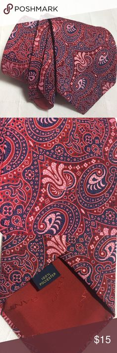 0352d4498 Wide vintage neck tie Gorgeous wide vintage tie in maroon, navy and pink  paisley type print by Gant shirtmakers. No flowers and this outstanding  vintage ...