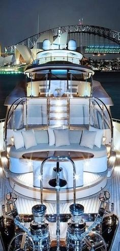 Must be on a yacht at the Victoria Harbor. Beautiful view with the luxury yacht. Yacht Design, Super Yachts, Big Yachts, Luxury Travel, Luxury Cars, Luxury Yacht Interior, Luxury Decor, Luxury Homes, Yachting Club