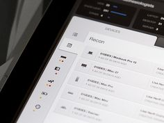 Designspiration — Dribbble - Device Dashboard - iPad - UI/UX/iOS by Jason Wu