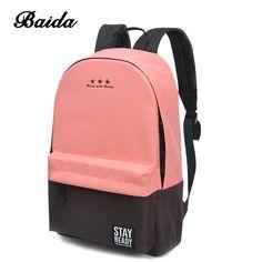 $79.6 - Cool Fashion Backpack Women Children Schoolbag Back Pack Leisure Korean Ladies Knapsack Laptop Travel Bags for School Teenage Girls - Buy it Now!