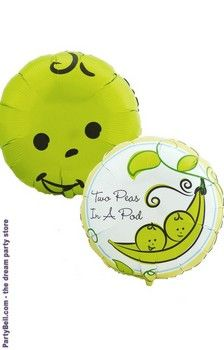 Ravishing Two Peas in a Pod Foil Balloon. Best Collections of Foil Balloons for Birthday at PartyBell. Baby Shower Balloons, Baby Shower Parties, Baby Boy Shower, 1st Birthday Party Supplies, 2nd Birthday Parties, Twin Babies, Twins, Baby Mine, Baby Baby