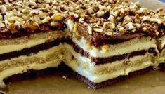 Snikers bez pieczenia Sweet Recipes, Cake Recipes, Polish Recipes, Polish Food, Baking Tips, Tiramisu, Cheesecake, Food And Drink, Ice Cream