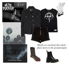 """""""Me Today"""" by witchblood ❤ liked on Polyvore featuring Antipast, Dr. Martens, Retrò, INDIE HAIR, Paige Denim and River Island"""