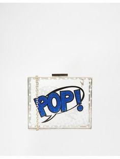 Skinnydip POP Perspex Box Clutch - White