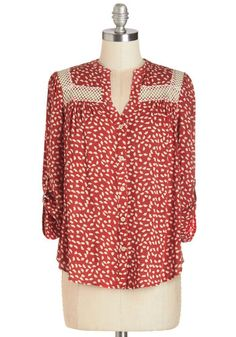 Treat the Parents Top in Foliage, @ModCloth