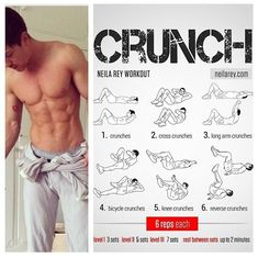 Combine this crunch workout with the ultimate Cutting Stack to get ripped and shredded this summer, how to get ripped, ripped abs, shredded abs, six pack abs Fitness Workouts, Gym Workout Tips, Abs Workout Routines, Workout Challenge, At Home Workouts, Fitness Motivation, Crunch Workout, Workout Abs, Neila Rey Workout