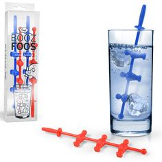Booz Foos Drink Stirrers - Kick around your ice cubes.