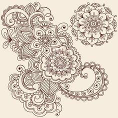 draw flower patterns Hand-Drawn Intricate Abstract Flowers and Mandala Mehndi Henna Tattoo Paisley Doodle - Illustration Stock Photo - - Millions of Creative Stock Photos, Vectors, Videos and Music Files For Your Inspiration and Projects. Paisley Doodle, Paisley Drawing, Mandalas Painting, Mandalas Drawing, Zentangles, Zentangle Drawings, Mehndi Tattoo, Lace Tattoo, Henna Tattoos