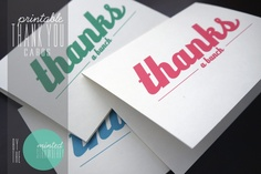 assorted color thank you cards
