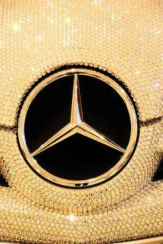Mercedes Benz SLK in Swarovski Crystal ~ Photography by Simbon Bugatti, Maserati, Ferrari, Mercedes Benz Slk, Gold Mercedes, Audi, Porsche, Koenigsegg, Carl Benz