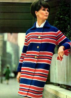 Knitting PDF pattern vintage Coat knit pattern by Superlucky8com