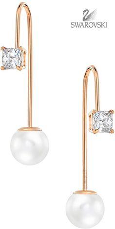 Brilliant Luxury by Emmy DE ♦Swarovski Attract Wire Pierced Earrings