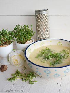 Geröstete Grießsuppe mit Kresse - Jankes Soulfood