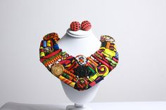 Assorted Floral Multicolored Ankara Statement Neckpiece
