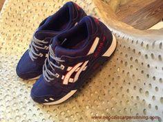 scarpe da calcio Uomo-Donna H308N-6095 Navy/Rosso Asics Gel Lyte III
