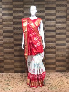 Pure silk white and brown Patola for Festive ♦️Shop at FESTIVAL LALGATE SURAT ♦️ Upto 20% to 50% OFF on New arrivals ♦️Lehanga choli , Gowns , Sarees ♦️Dm us for product inquiry or to shop on video calling ♦️Follow us @festival.india . . . . . #Festival #Festivalindia #indianclothing #handwork #bollywoodstyle #occasionwear #indiantradition #tradionalwear #bridalcouture #indianbride #threadwork #silk #indowestern #festive #festiveseason #plazosuits #ethnic ##festivalcollection #shopno Thread Work, Maroon Color, Occasion Wear, Bollywood Fashion, Pure Silk, Indian Outfits, Color Combinations, Harajuku, Saree