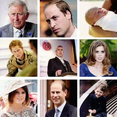 ready4royalty:  The first 21 in the Line of Succession to the British Throne:  1) Prince of Wales; 2) Duke of Cambridge; 3) Prince George of Cambridge; 4) Prince Harry; 5) Duke of York; 6) Princess Beatrice; 7) Princess Eugenie; 8) Prince Edward; 9) James, Viscount Severn