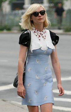 More Pics of Kirsten Dunst Leather Shoulder Bag