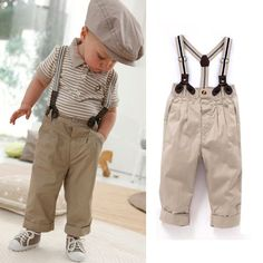 Cheap set kids boys, Buy Quality set kids directly from China kids boy Suppliers: T shirt + Pants + shoulder straps set Kids Boys children Baby Clothes Toddler Sets Gentleman Overalls Outfit Top Bib Fashion Kids, Baby Boy Fashion, Fashion Wear, Fashion 2017, Toddler Boy Outfits, Toddler Boys, Kids Outfits, Baby Boys, Children's Outfits