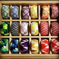 揃った!#刺繍 #thimble  #madeinjapan  #針仕事 #加賀指ぬき #手芸 #加賀指貫#japan #handmade