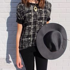 {Monochromatic} Layla Print Mix Blouse $42. In-Store Only.  Peter Grimm Wool Felt Safari Hat $48. In-Store Only.  Black Leggings $18. In-Store Only. Lucky You Pendant $66. In-Store only.  #hat #newitems #patterns #fallfashion #elysianlove http://ift.tt/1GPt9X6 {Monochromatic} Layla Print Mix Blouse $42. In-Store Only.  Peter Grimm Wool Felt Safari Hat $48. In-Store Only.  Black Leggings $18. In-Store Only. Lucky You Pendant $66. In-Store only.  #hat #newitems #patterns #fallfashion…