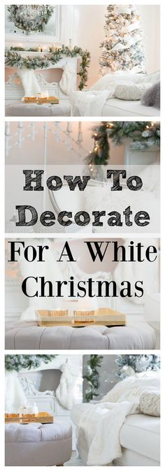 How to decorate for a white Christmas. #tree #decor #design #christmas #winter #cold