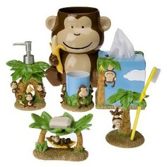 Looks so cute in the kids bathroom Circo® Monkey Bath Collection