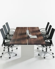 love the wood on this conference table