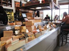 Cheese selections at the Wine Merchant at the Oxbow Market in Napa, California