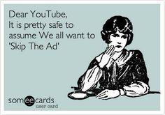 Dear Youtube... #SocialMediaHumor #Humor