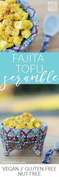 fried dandelions // fajita tof scramble