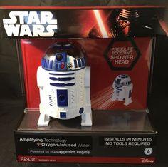 Disney Limited Edition, Star Wars Force, R2D2, R2-D2 Shower Head, Oxygenics, NIB #Oxygenics