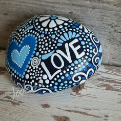 Joy, Love, Smile. Hand painted rock. Hand picked from the shores of Lake Ontario…