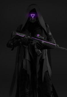 The Dark Soldier Arte Ninja, Arte Robot, Fantasy Character Design, Character Design Inspiration, Character Art, Futuristic Armour, Futuristic Art, Armor Concept, Concept Art